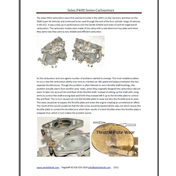 Downloadable article about Solex P40-II carburetors