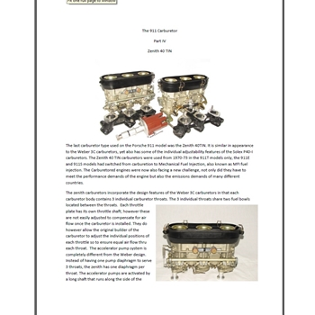 Part 4 the 911 carburetor