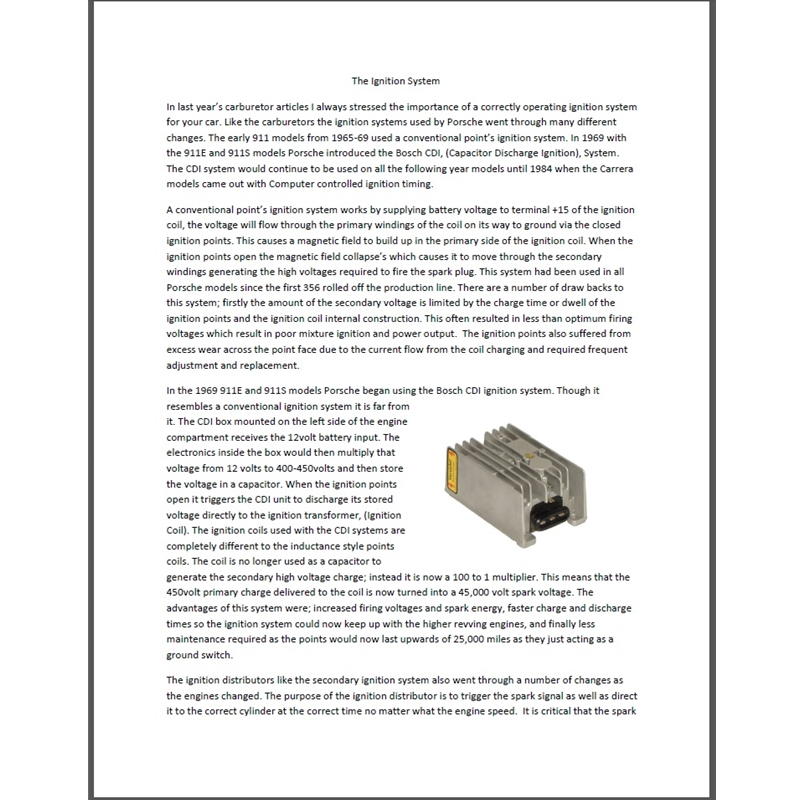 Ignition System Article