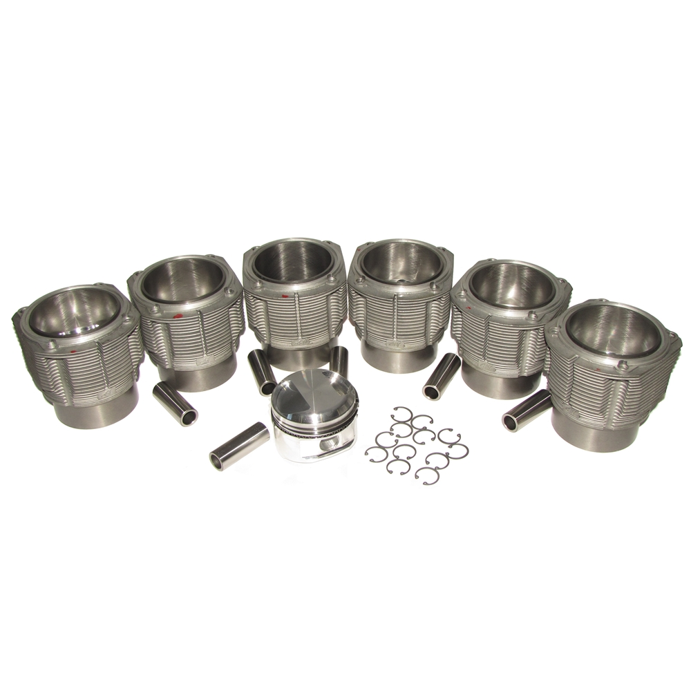 86 mm Forged Piston and Cylinder Set, 6 Cyl 2.5L - High Compression