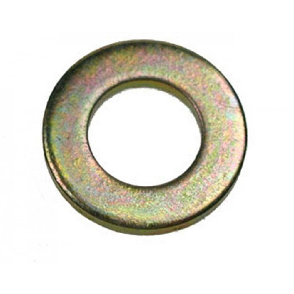 M6 Flat Washer, Yellow Zinc