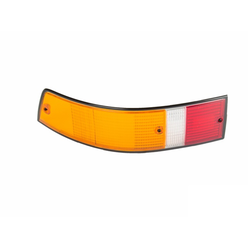 Tail Light Lens, European w/Black Trim Left