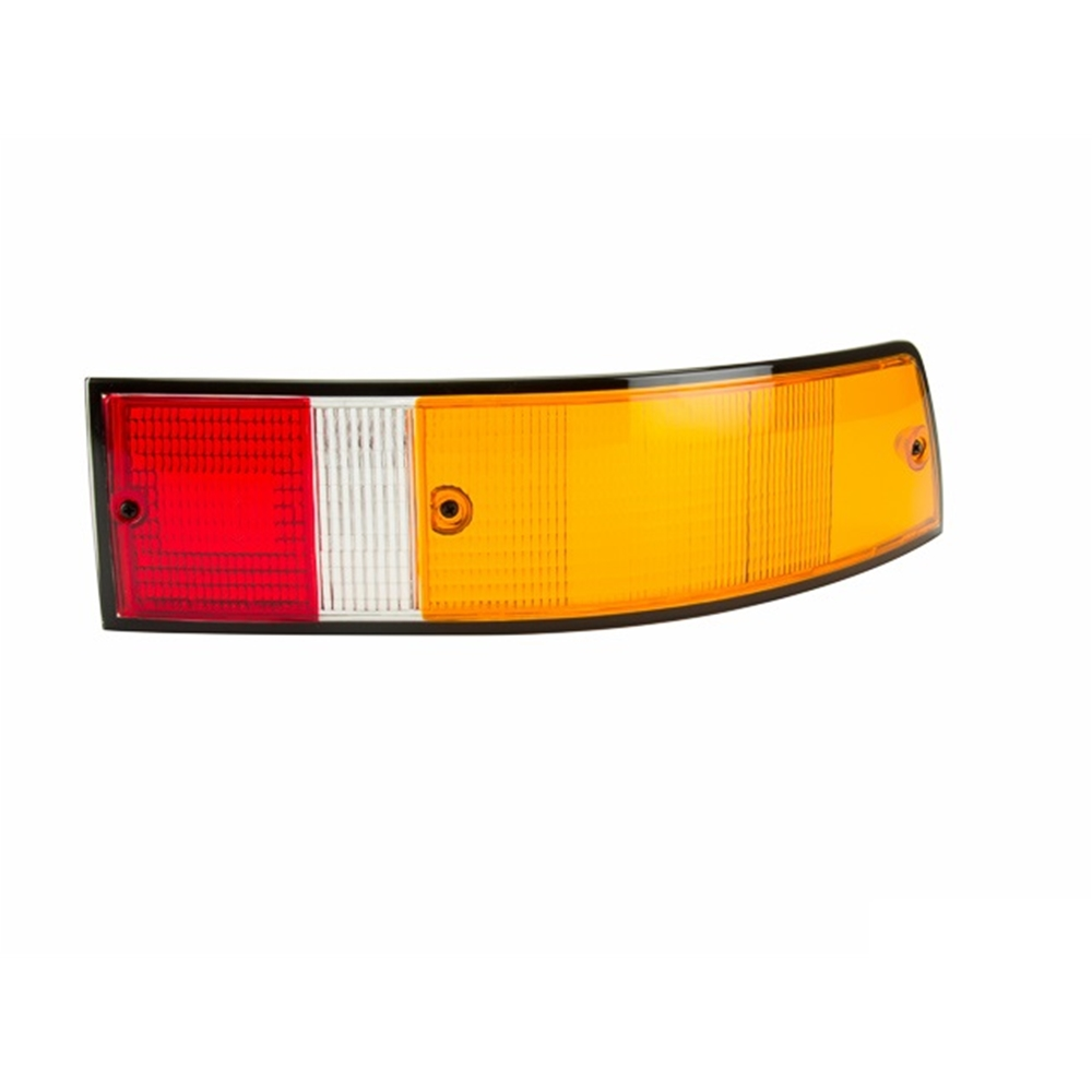 Tail Lamp Lens, European w/Black Surround, Right