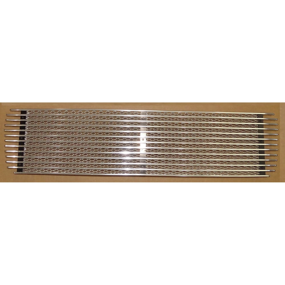 Engine Lid Grille Silver/Silver Three Bar