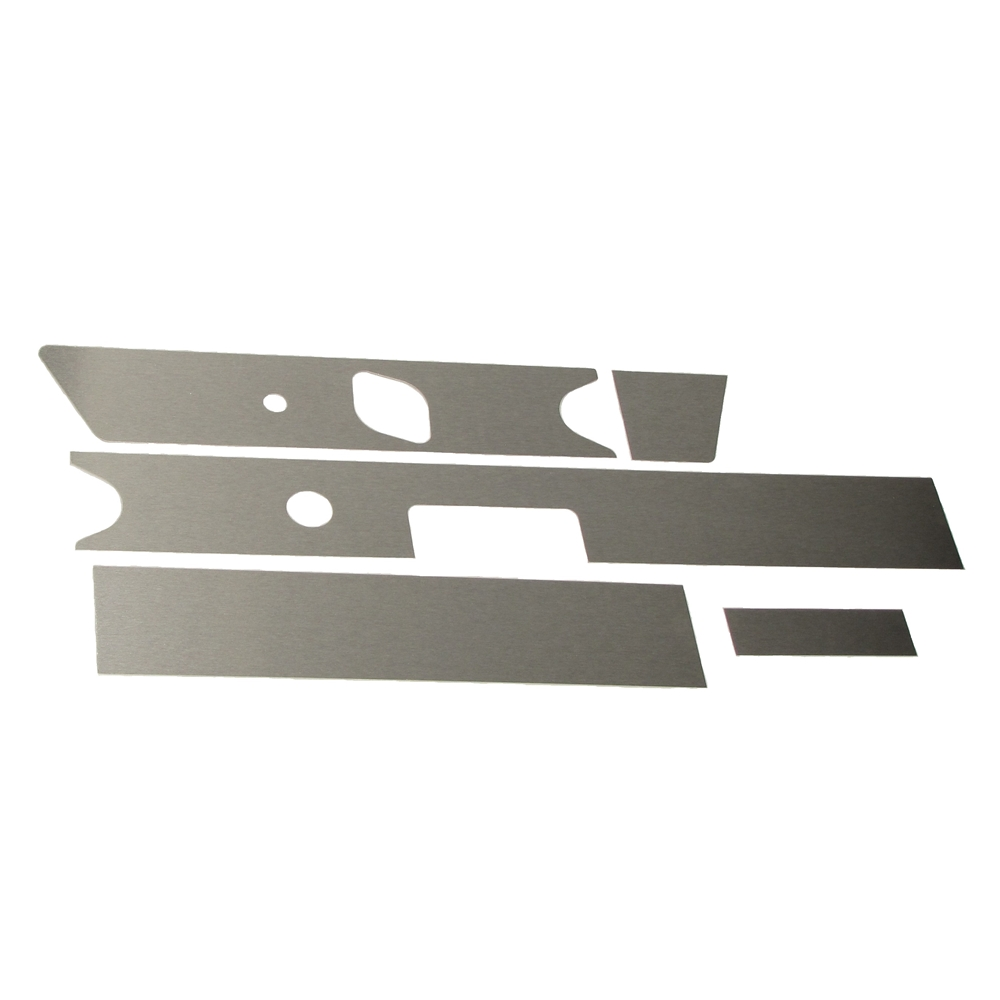 Aluminum Dash Board Fascia Kit, Radio Delete 66-68