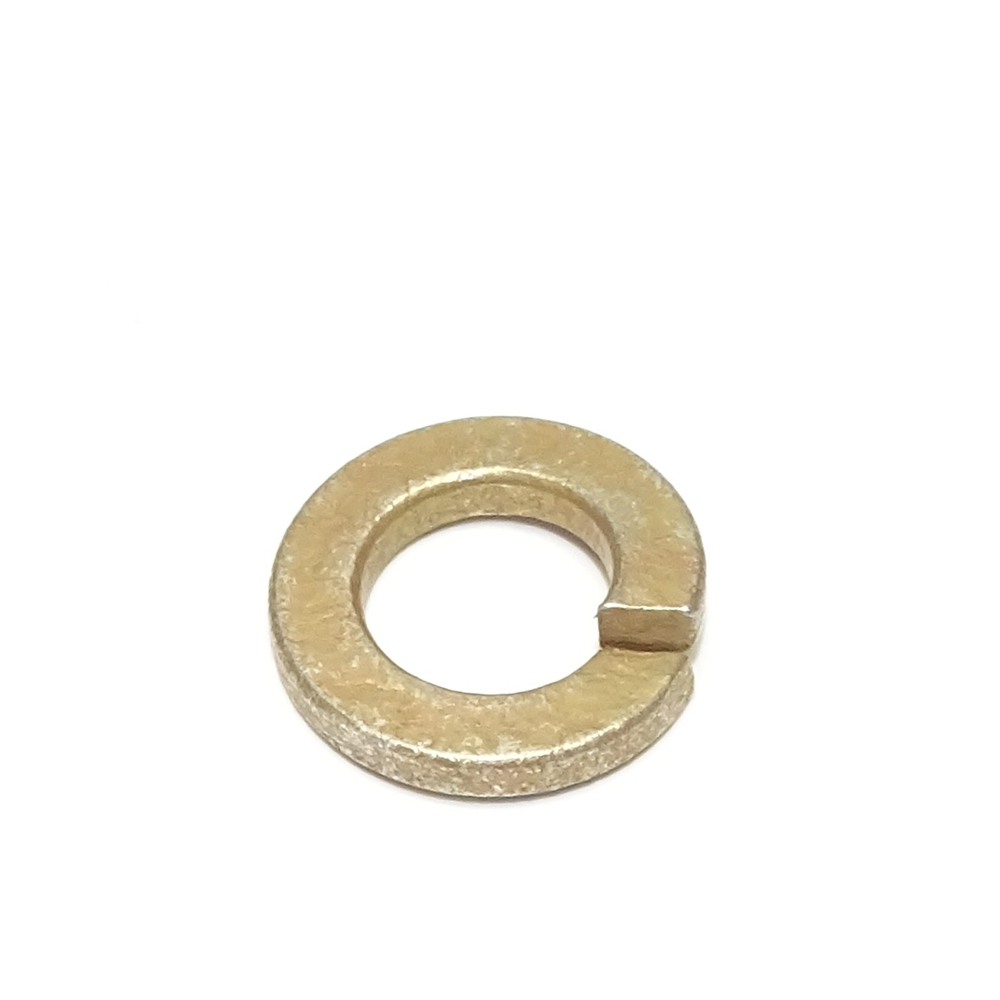 M8 Split Lock Washer, Yellow Zinc