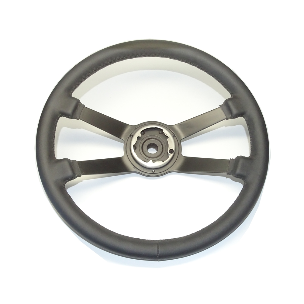 Steering Wheel, RS style Double Leather Wrapped, 380mm