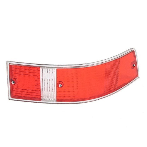 Tail Light Lens, USA w/Silver Trim Right