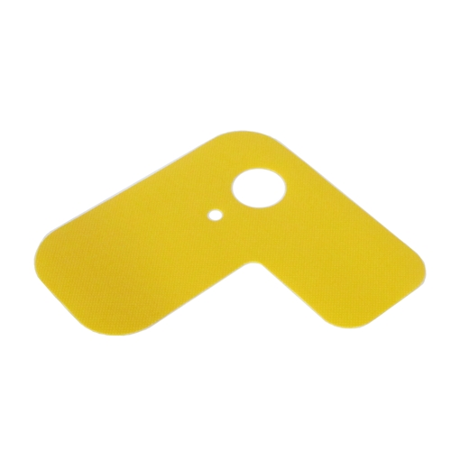 Gas protection flap, yellow