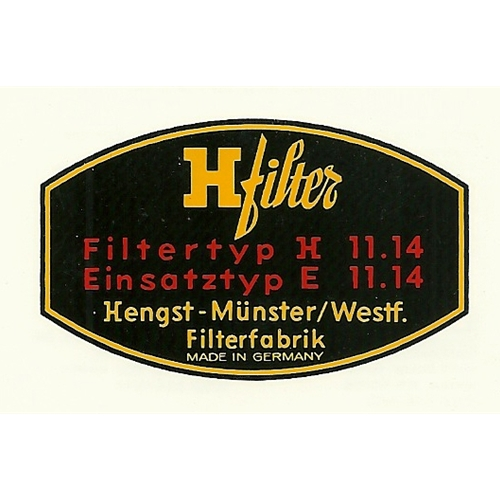 H-Filter Decal