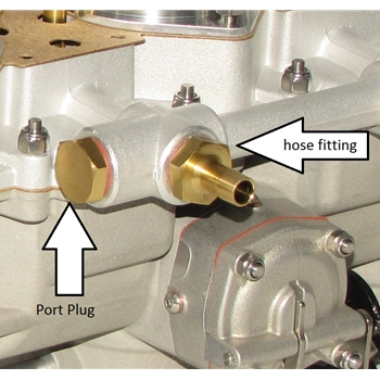 Fuel Rail Plug, PMO Carburetors