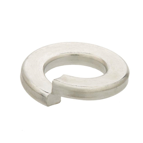 M8 Split Lock Washer, Clear Zinc