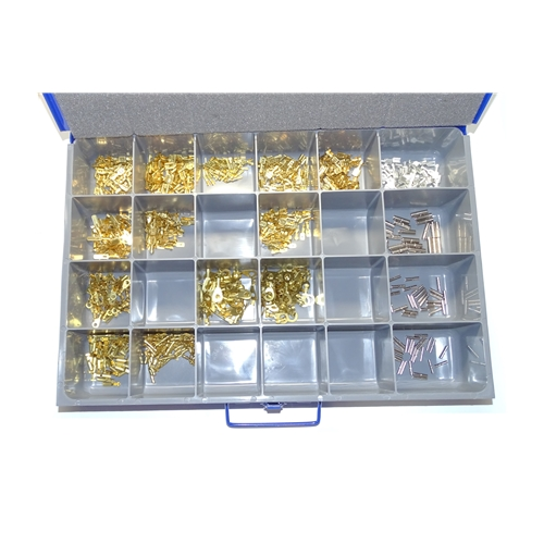 875 Piece Uninsulated Electrical Terminal Kit W/case
