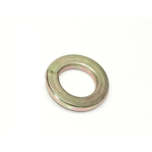 M12 Lock Washer, Yellow Zinc