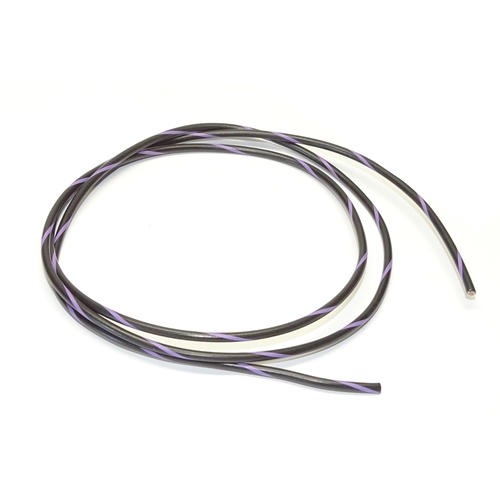 Primary Wire in Black with Purple Trace 16GA